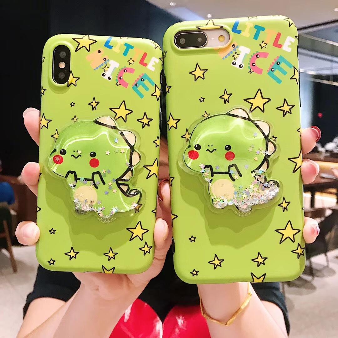 Cartoon quicksand shell apple XS Max/XR mobile phone case iPhoneX/8plus/7p/6s creative cute female models
