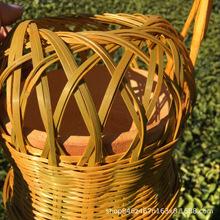 閩南特色工藝品竹編火籠 結婚專用竹火爐 取暖爐 暖手寶 火炭竹籠