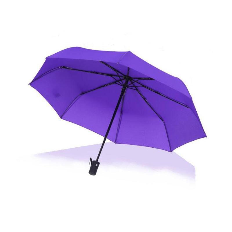 2紫色自动伞