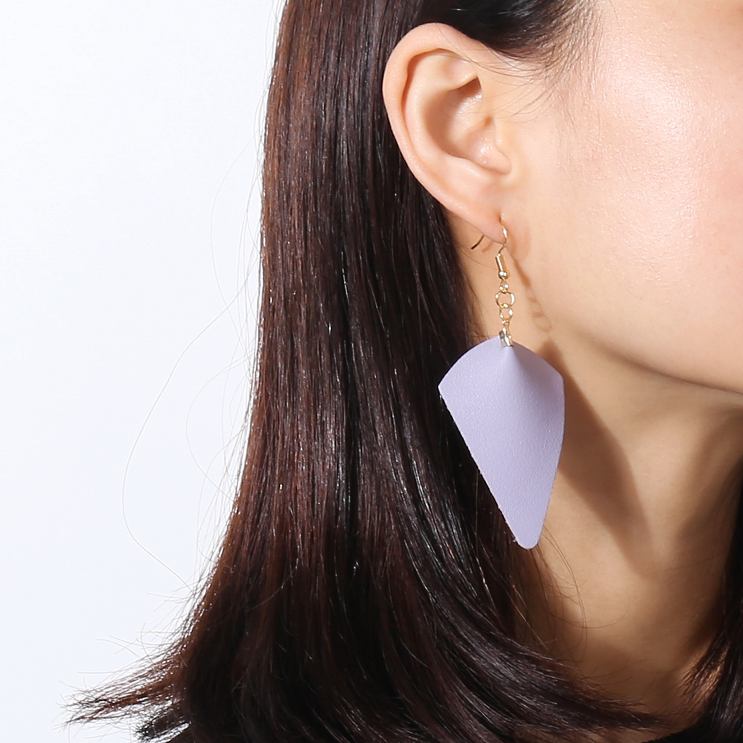 Leather Fashion Geometric earring(purple) NHXR2397-purple