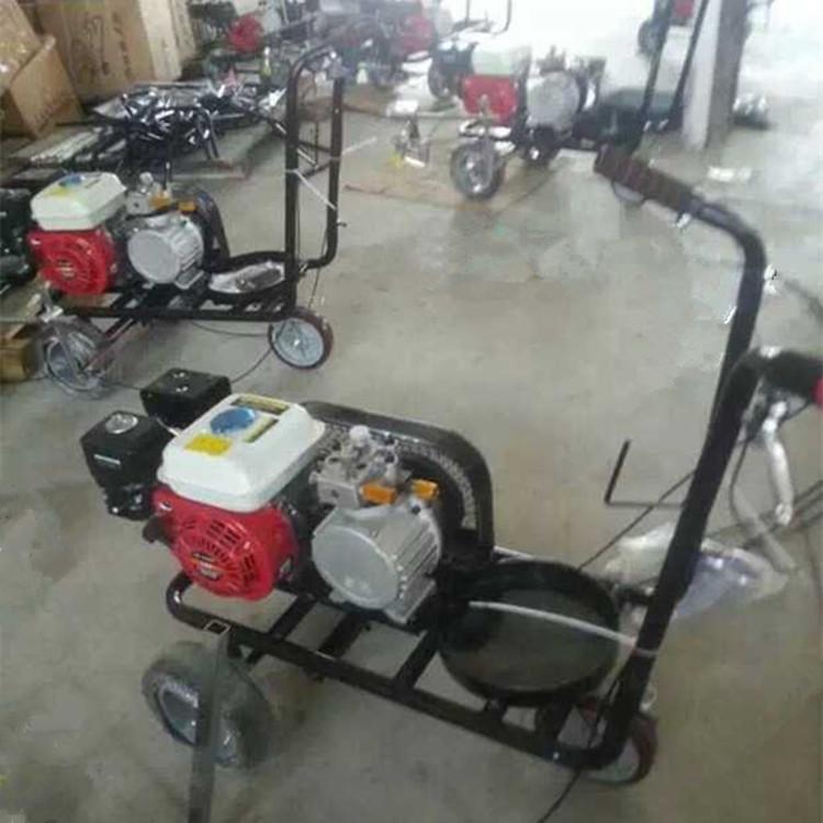鸿铄牌冷喷汽油划线机(划线车) 手扶热熔划线机 单喷头小型划线机