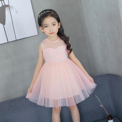 Mùa hè mới của Hàn Quốc phiên bản của các cô gái trong váy vest của trẻ em fluffy công chúa váy 61 trang phục váy váy nhà máy