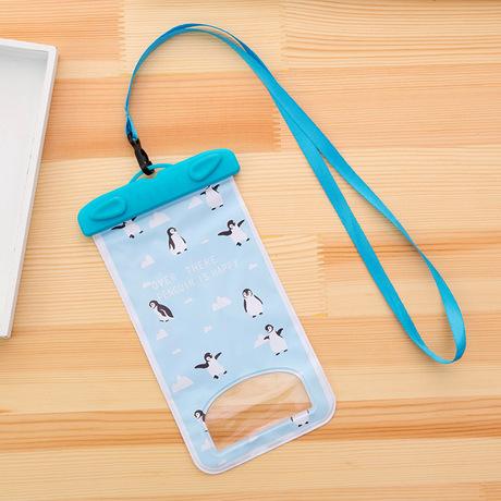 Mùa hè phim hoạt hình động vật nhỏ điện thoại di động túi chống nước lặn thiết lập PVC niêm phong dưới nước máy ảnh phổ trôi trôi túi bơi