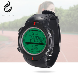 Plastic LCD LCD step counter sports watch HZ-497 fashion smart outdoor running watch