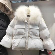 小个子棉衣女短款2018冬季新款大毛领加厚棉袄收腰学生棉衣