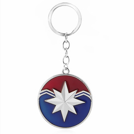 Marvel Surprise Captain Keychain Captain Marvel Alloy Small Gift Keychain