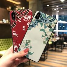 延禧攻略同款 新款iPhonex批发x21创意磨砂3d彩绘宫袍浮雕手机壳