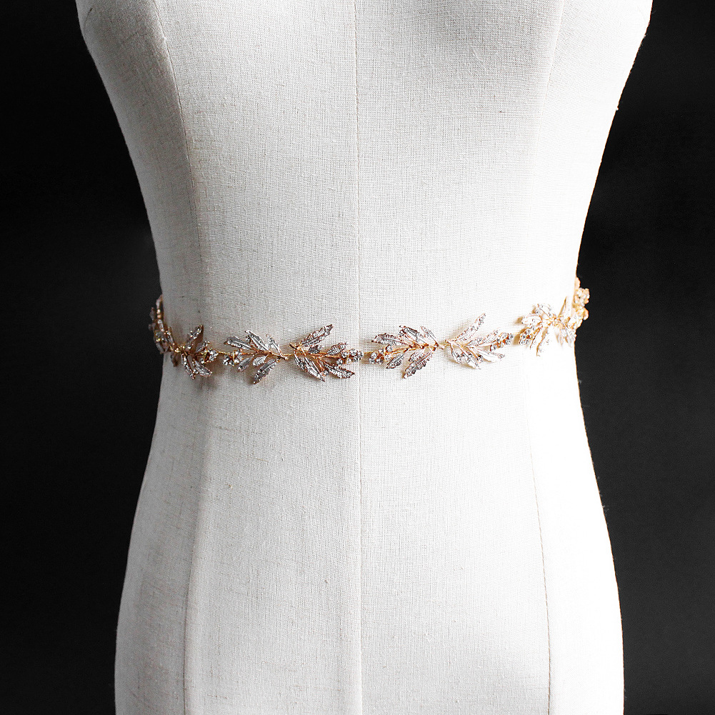 Alloy Fashion  Bridal jewelry  (Rose alloy) NHHS0509-Rose-alloy