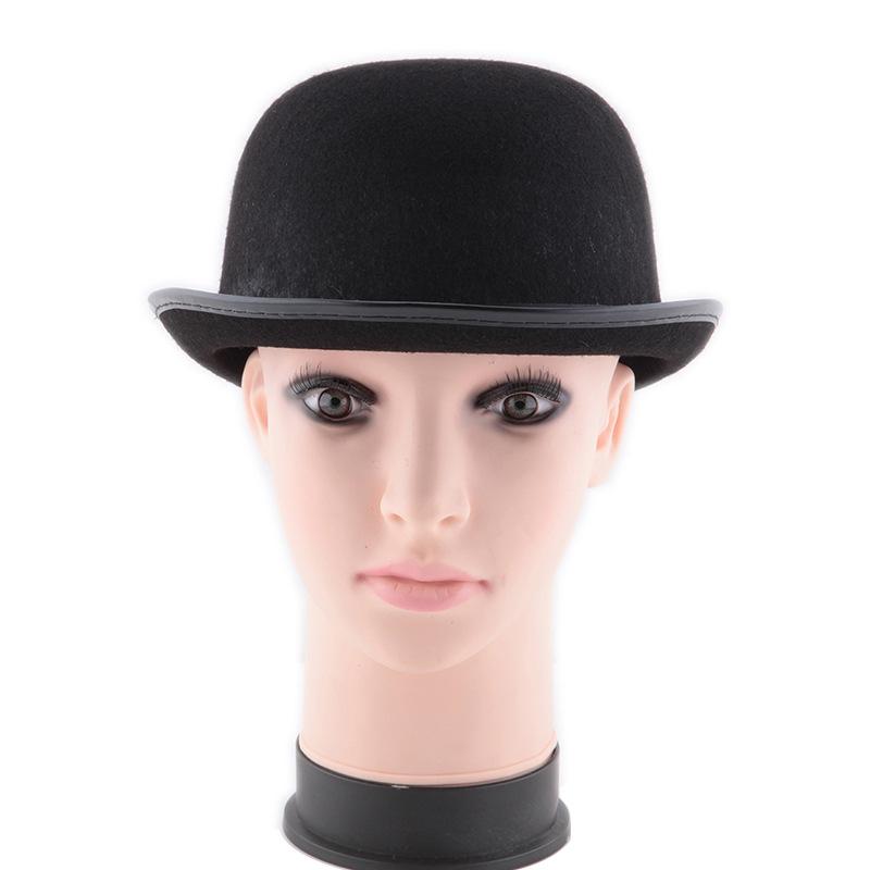 万圣节卓别林礼帽魔术师帽子 魔术帽 高礼帽爵士帽魔术道具56g
