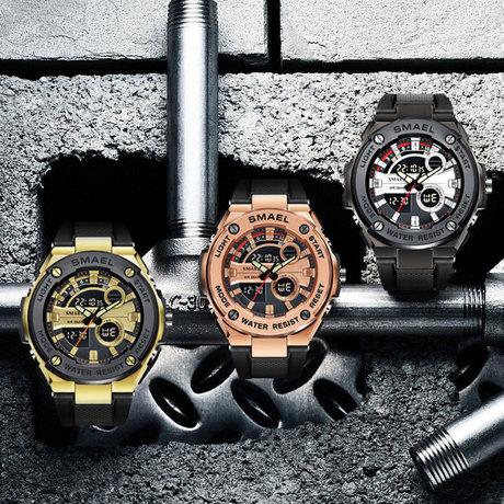 SMAEL Smyr đồng hồ mới chính hãng ngoài trời thể thao đa năng chống nước đồng hồ điện tử phổ biến nam giới