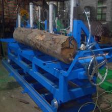 佛山机械设备圆木半自动带锯开料机木工电动带锯跑车4米行程推台