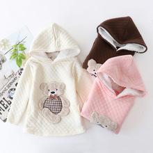 廠家直銷2018秋季新款可愛兒童加厚空氣層小熊可愛造型童衛衣