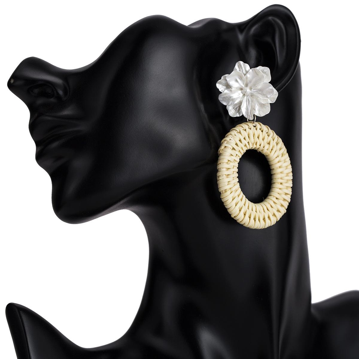 Alloy Fashion Flowers earring  (white) NHJE1825-white