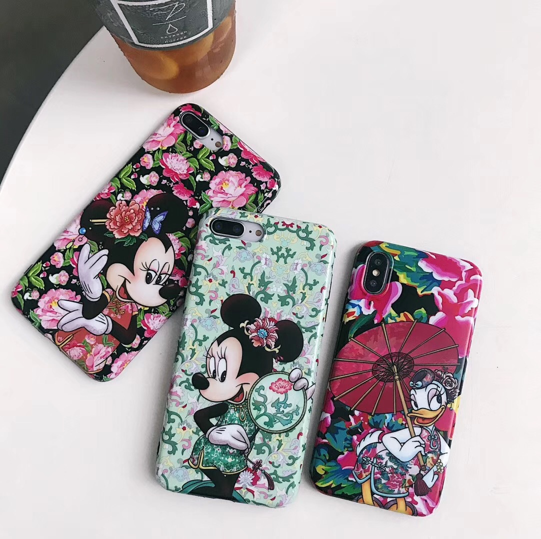 Chinese style Donald Duck 8plus for Apple mobile phone shell iPhonexs max Minnie Mickey i7p couple