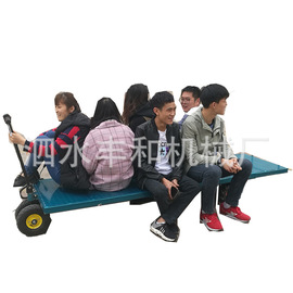 Electric flat truck four-wheeled flat vehicle electric transport vehicle pulling truck