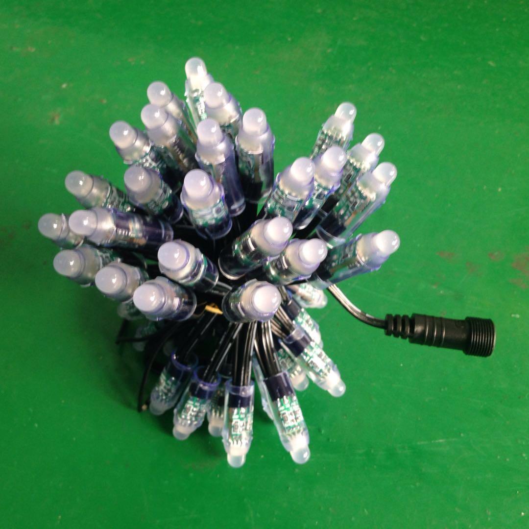 12Vws2811LED全彩外露燈串 防水像素燈 廣告招牌亮化沖孔RGB燈串
