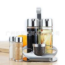 玻璃調味罐五件套裝調料盒油壺臺面餐桌橄欖油瓶醬醋瓶胡椒粉瓶
