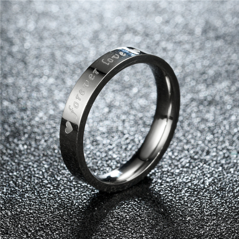 Couple Heart Shaped Stainless Steel Rings TP190418118108
