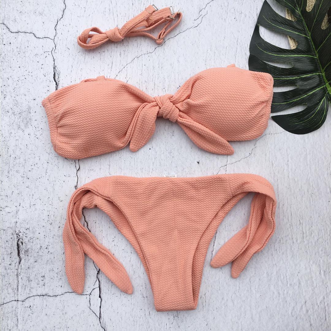 Sexy solid color explosion bikini NHNM142725
