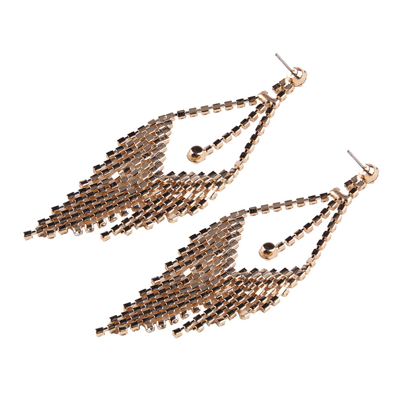 Alloy Fashion Geometric earring(Golden) NHJQ10094-Golden