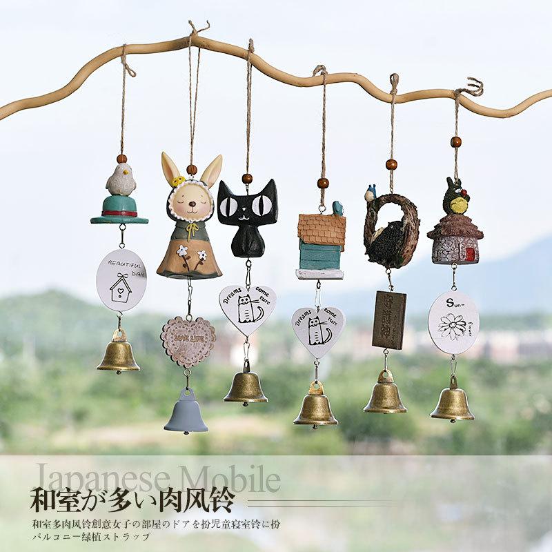 创意龙猫风铃壁挂 房间铃铛挂件门饰 风铃阳台家居壁挂装饰小礼品