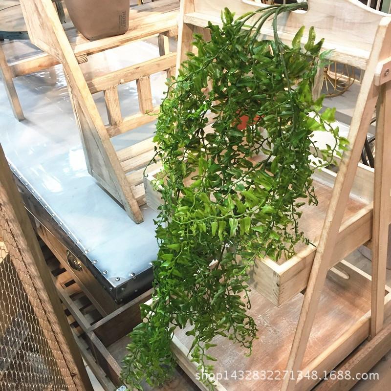 仿真植物壁挂波斯草藤条假花藤蔓装饰绿植婚庆客厅装饰假树叶批发