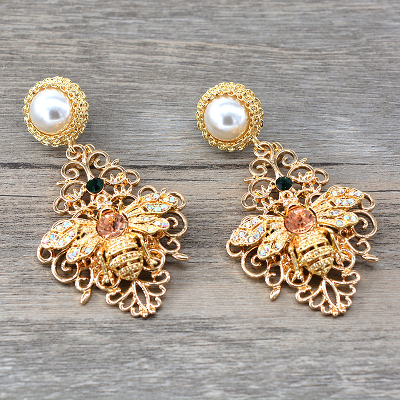 Beads Vintage Animal earring  (Alloy) NHNT0621-Alloy