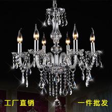 水晶吊灯客厅灯酒店卧室欧式水晶吊灯欧美跨境灯具外贸热销蜡烛灯
