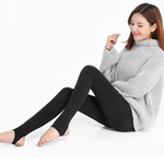 2018 autumn and winter simple ecological cotton anti pilling and pile thickening and keeping warm, slim body, wearing thin underpants, female 300g