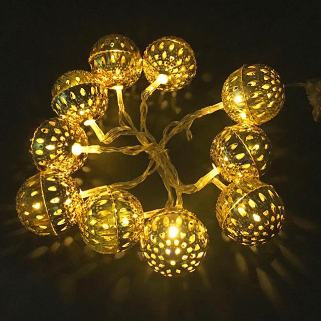 铁艺铃铛电池灯串LED灯造型灯圣诞节日彩灯