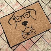 复合PVC橡胶底拉绒针刺尼龙无纺布地毯印花门垫小狗宠物地垫脚垫