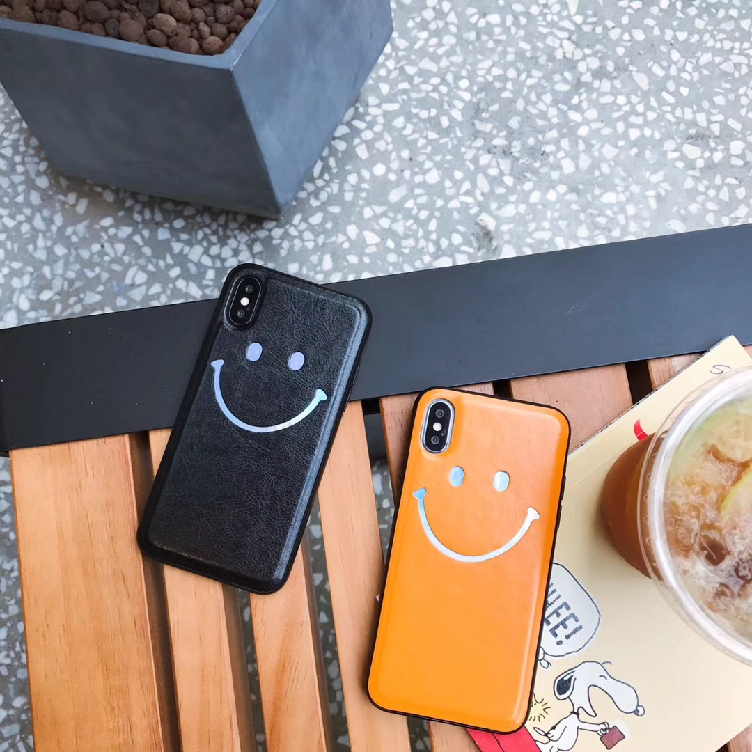 Korea ins skin color smiley face for iphoneXs Max case Apple 8plus/7/6 phone case