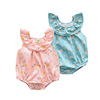 19 summer Lace collar Sleeveless Short climb Cartoon summer baby clothing pure cotton Jersey Jumpsuit Baby