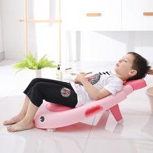 儿童洗头椅洗发椅洗头床儿童沐浴床可折叠可调节洗发躺一件代发