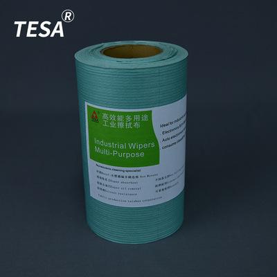 绿色压花大卷工业擦拭纸 厂家直销大卷无纺布多功能吸水吸油纸