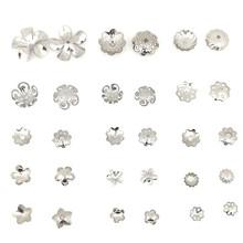 供应多款不锈钢珍珠花托 珍珠帽托 串珠?#26032;?#31354;盖帽托diy饰品配件