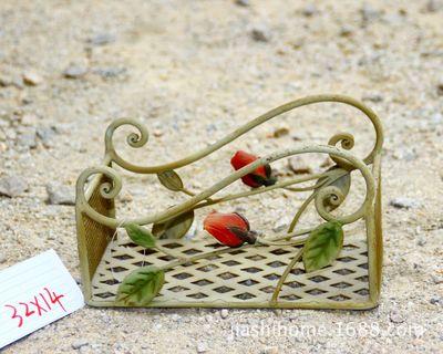 直销跨境货源法式庭院系列复古风纯手工铁艺花架置物架金属工艺品