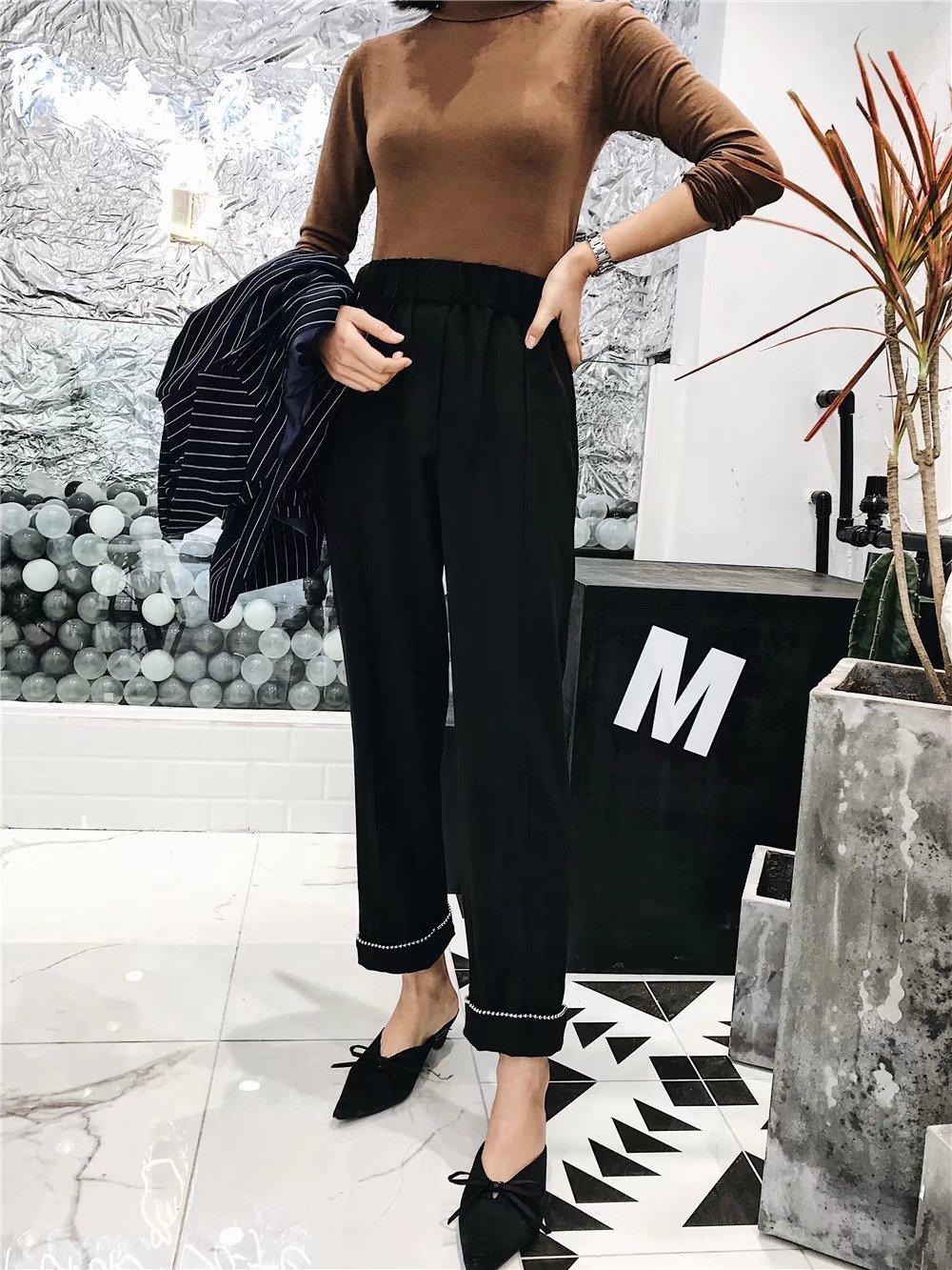 Cotton Fashionpants(Black-S) NHAM2529-Black-S
