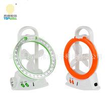 厂家直销创意台灯风扇三合一应急照明风扇多功能充电桌面风扇灯