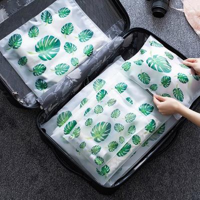 T北欧色旅行衣服收纳袋行李衣物整理袋防水内衣袋子48g