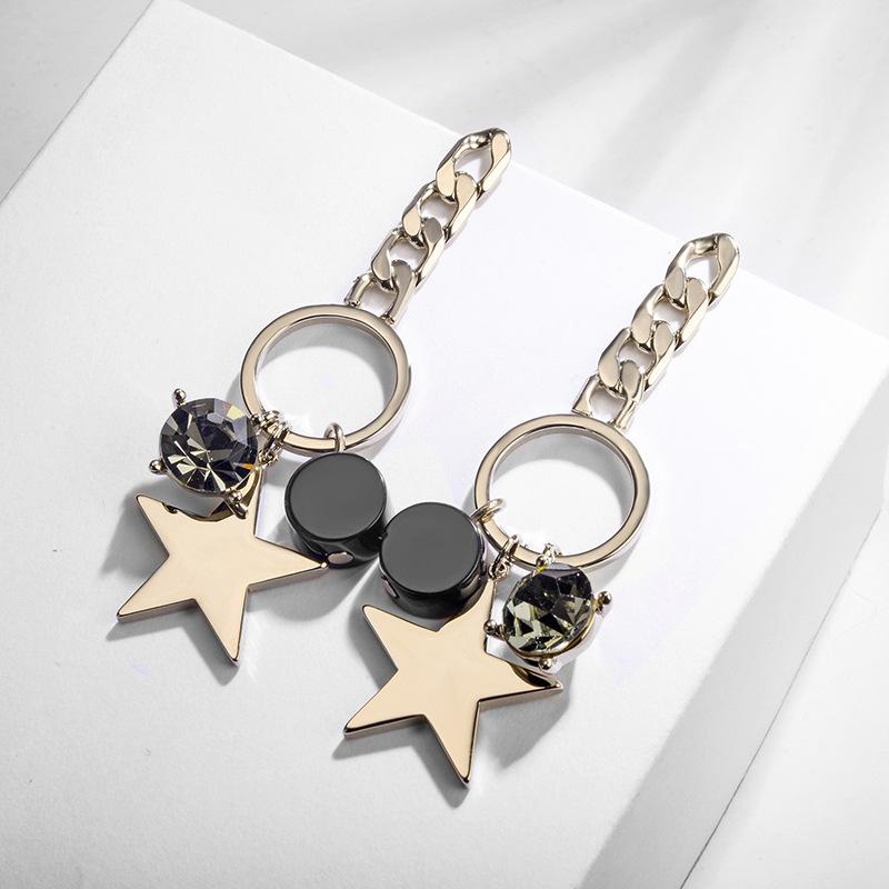 Alloy Korea Geometric earring  (White alloy) NHLJ4191-White-alloy
