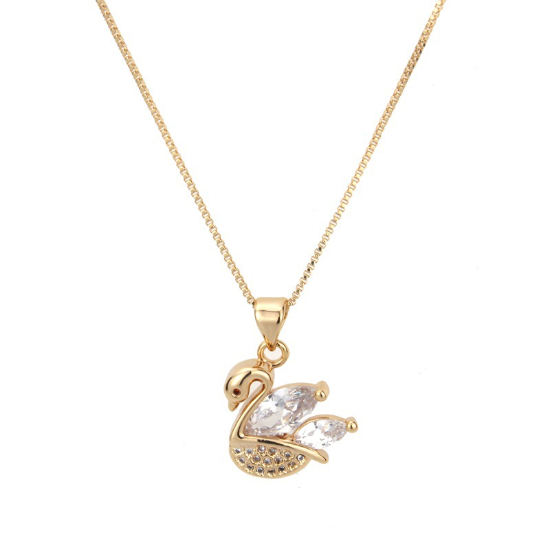 Copper Fashion Animal necklace  (Alloy-plated white zircon) NHBP0334-Alloy-plated-white-zircon