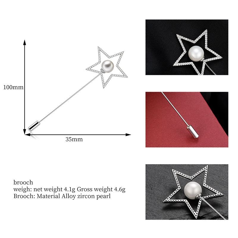 Alloy Simple Geometric brooch  (61187219) NHXS2175-61187219