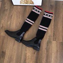032702  包邮除偏远地区 舒适百搭女式长筒过膝靴袜子靴 一件代发