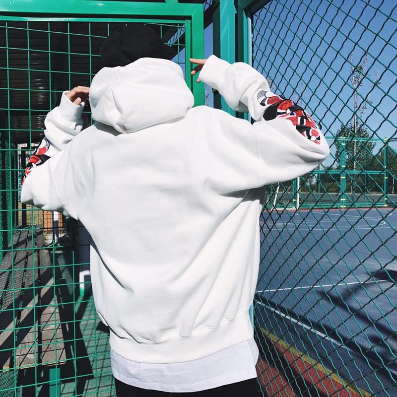 9250931705 388413699 - HEYGUYS2018 New Spring Hoodie Mens Hip pop Sweatshirts Harajuku hip hop Cross double snake embroidey Long Sleeve Hoody Clothing