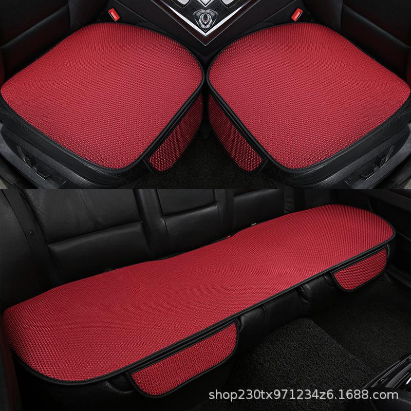 外贸汽车坐垫夏季冰丝座垫三件套单片无靠背防滑单个后排四季通用