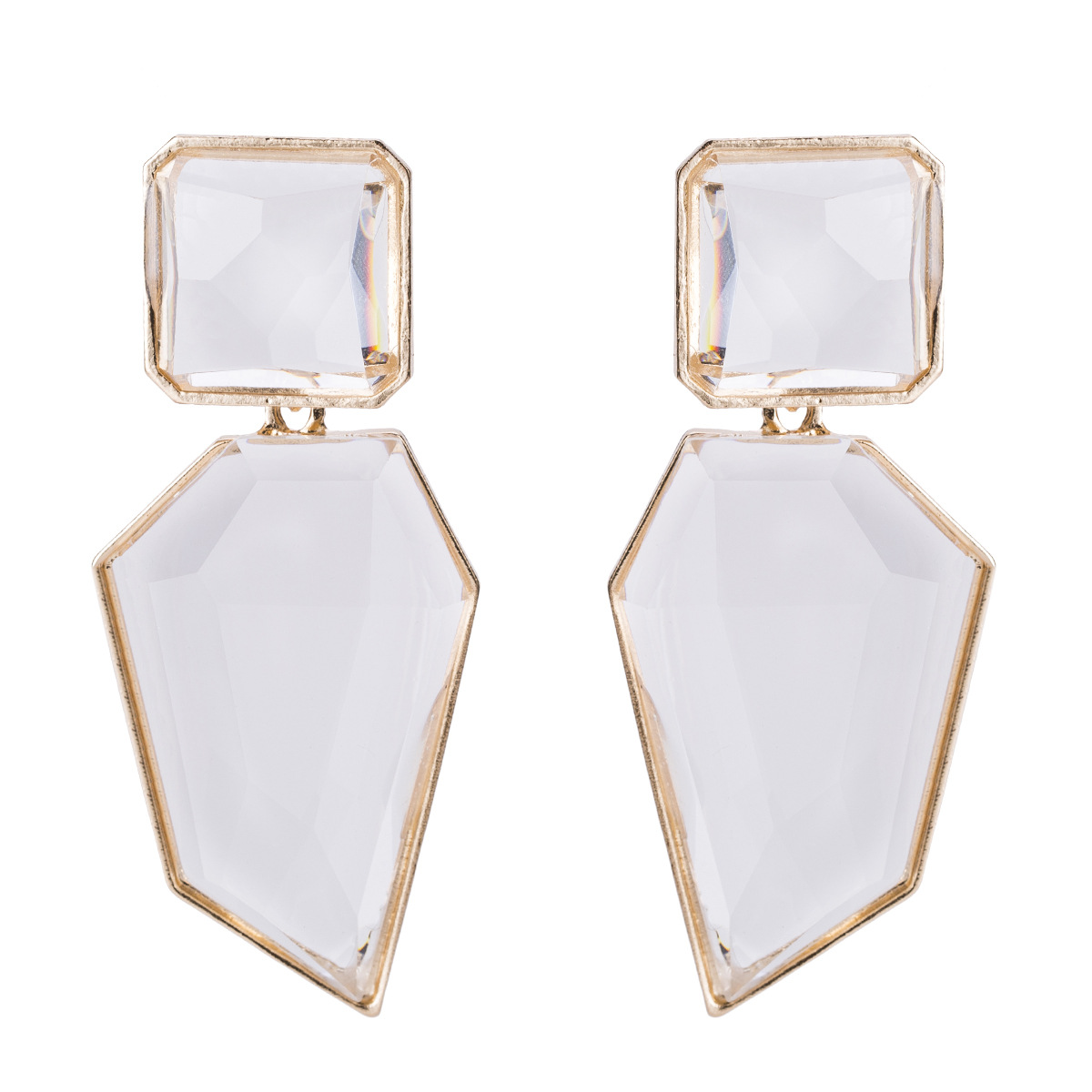 Alloy Fashion Geometric earring  (white) NHJE1494-white
