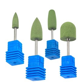 Manicure grinding tool high quality green silicone head grinding head nail polishing waxing special purpose