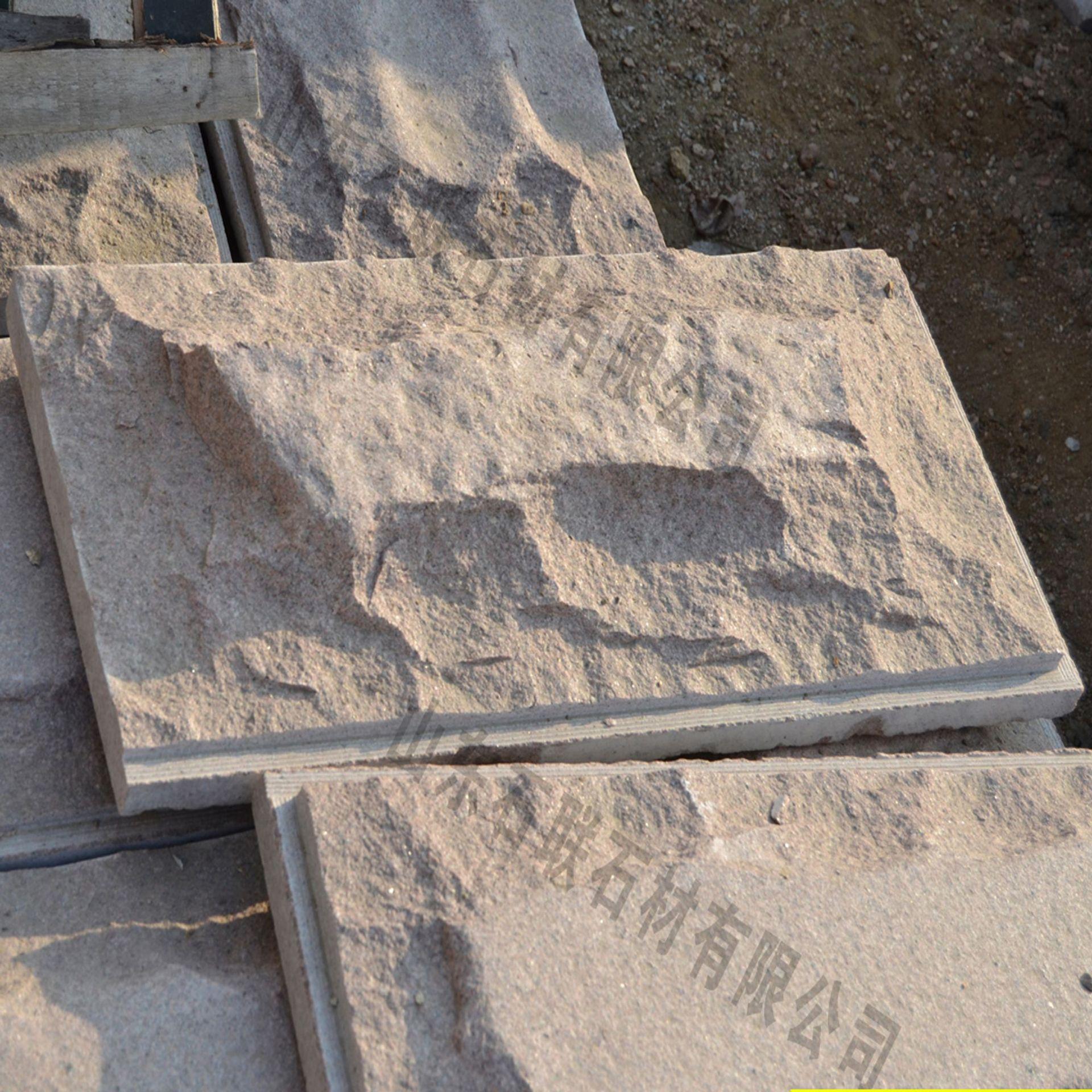 bwin国际平台网址红大理石度假酒店电视背景墙文化石公共园林区域文化石蘑菇石
