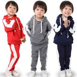 2019春季童装男女童卫衣套装儿童休闲运动服韩版中小童纯棉两件套